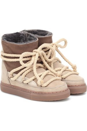 INUIKII Kids Patchwork suede and leather ankle boots