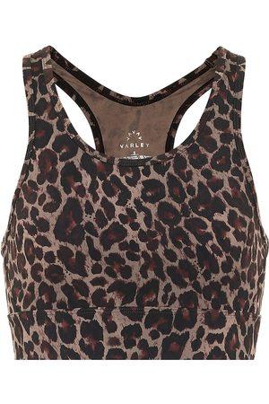 Varley Berkeley leopard-print sports bra