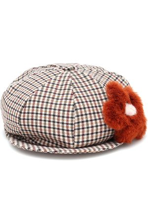 Il gufo Checked baker boy hat