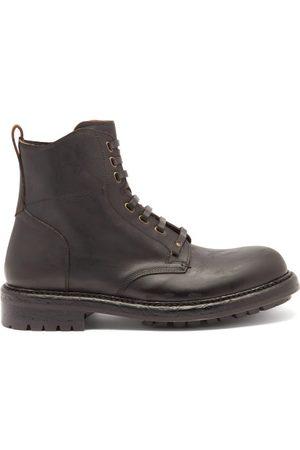 Dolce & Gabbana Bernini Distressed-sole Leather Boots - Mens