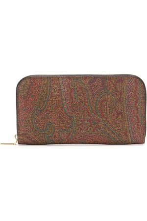 Etro Paisley-print continental wallet