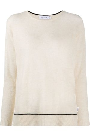 Calvin Klein Women Sweaters - Fine-knit long sleeve jumper - Neutrals