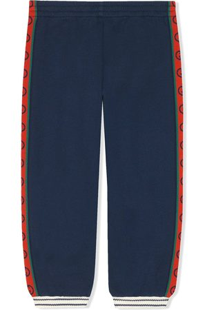 Gucci Intarsia knit logo trousers