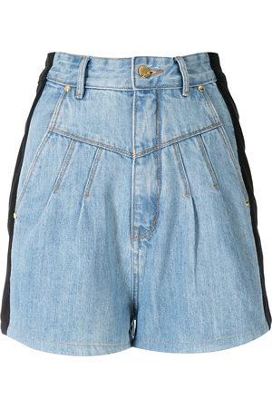 AMAPÔ Two-tone denim shorts