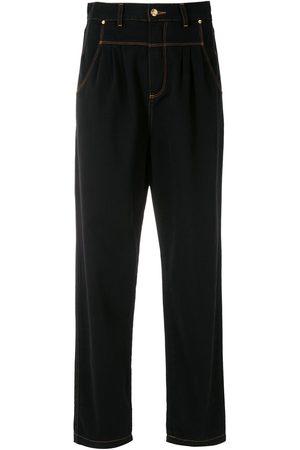 AMAPÔ Women Straight - Dart detail straight-leg jeans