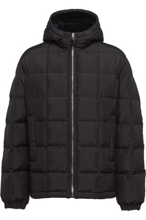 Prada Quilted hooded puffer jacket - Grey