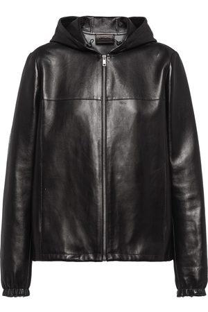 Prada Hooded leather jacket