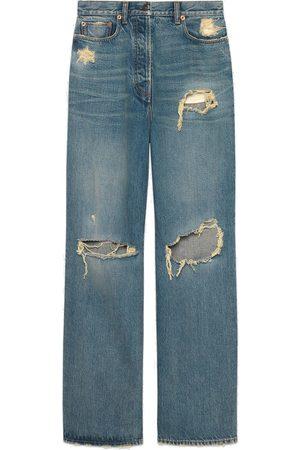Gucci Women Boyfriend Jeans - Distressed boyfriend-fit jeans