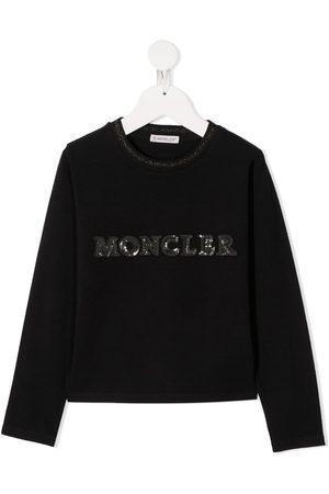 Moncler Sequin-embellished logo sweatshirt