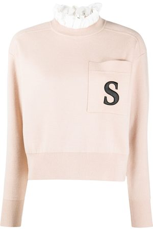 Sandro Women Sweaters - Lucille embroidered detail jumper - Neutrals