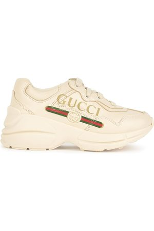 Gucci Logo leather sneakers - Rhyton