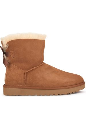 UGG Kids - Fur-lined leather and wool boots - Mini Bailey Bow II - Girl - 36 EU - - Ankle boots