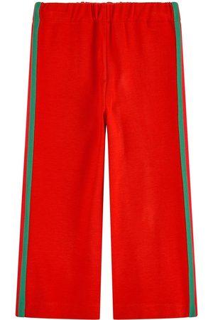 Gucci Loose fit jogging pants Mini Me Bande Web