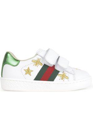 Gucci Ace Mini Me leather trainers - Bande Web