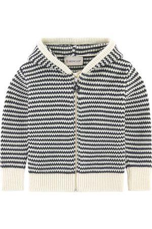 Moncler Hoodies - Kids - Woollen hoodie - Unisex - 9-12 months - Grey - Hoodies