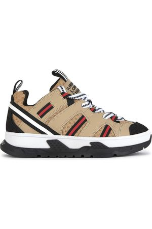 Burberry Sneakers - Kids - Leather and mesh Union trainers - Unisex - 28 (UK 10) - - Casual trainers