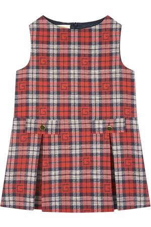 Gucci Girls Dresses - Kids - Square G Dress Red - Girl - 4 years - Navy - Party dresses