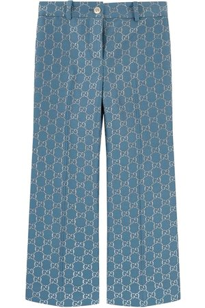 Gucci Kids - Flare fit logo pants - Girl - 12 years - - Trousers