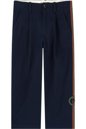 Gucci Regular fit embroidered pants