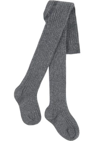 Belle Sale - Ribbed knit tights - Unisex - 3-6 Months - Grey - Tights