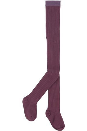 Collegien Kids - Ribbed knit tights Louise - Unisex - 3-4 Years - - Tights