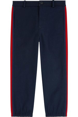 Gucci Boys Chinos - Kids - Mini me Straight cut pants - Bande Web - Boy - 4 years - - Chinos