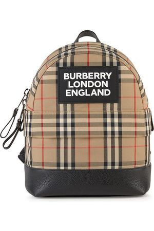 Burberry Print backpack with iconic stripes