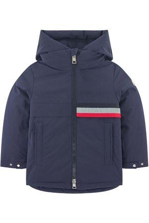 Moncler Boys Parkas - Kids - Pisace Stripe Branded Parka Navy - Boy - 4 years - Navy - Parkas