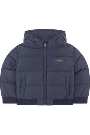 Dolce & Gabbana Boys Puffer Jackets - Kids Sale - Navy Branded Puffer Jacket - Boy - 9-12 Months - - Padded and puffer jackets