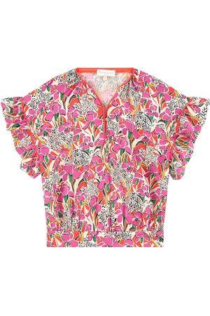 BLEU COMME GRIS Sale - Print satin blouse - Unisex - 4 Years - - Blouses