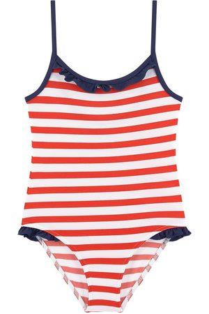 Les Ultraviolettes UV sun protection stripe print one-piece swimsuit