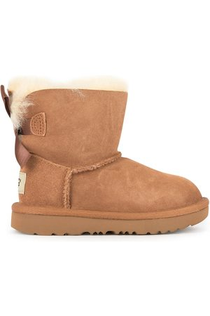 UGG Girls Ankle Boots - Kids - Bailey Bow fur-lined leather boots - Girl - 32,5 EU - - Ankle boots