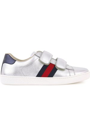 Gucci Leather scratch trainers - Bande web