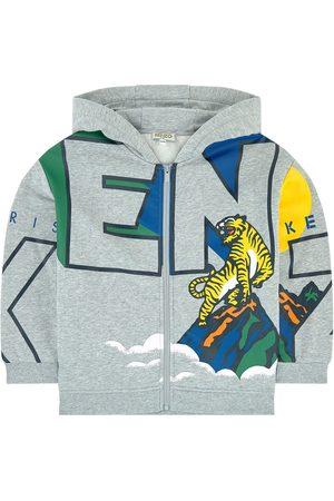 Kenzo Kids - Printed hoodie - Ventura - Boy - 6 years - Grey - Hoodies