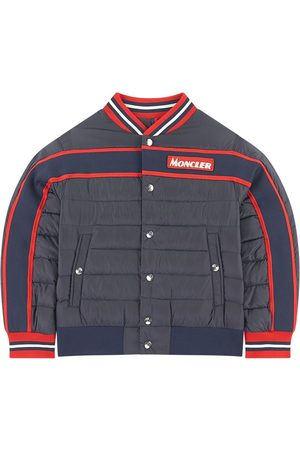 Moncler Boys Puffer Jackets - Kids - Navy Bomber Jacket - Boy - 5 Years - - Padded and puffer jackets