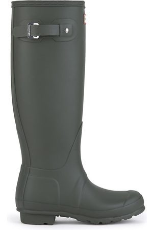 Hunter High matt Wellington boots - Original Tall Dark Olive
