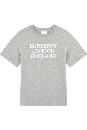 Burberry Kids - Branded Tee Black - Boy - 10 years - Grey - T-shirts