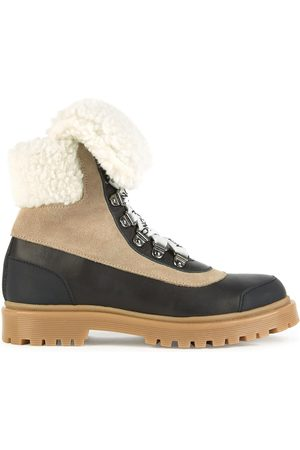Moncler Girls Ankle Boots - Kids - Fur-lined leather ankle boots - Girl - 29 EU - - Ankle boots