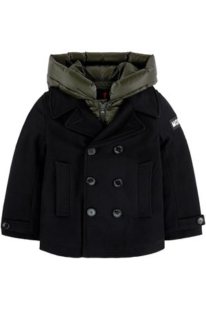 Moncler Boys Coats - Kids - Wool reefer jacket with a removable hood - Boy - 8 Years - - Winter coats