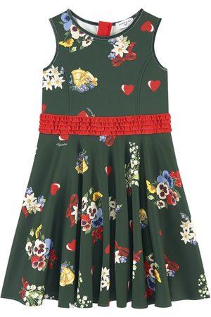 MONNALISA Sale - Printed neoprene dress - Girl - 4 years - - Party dresses