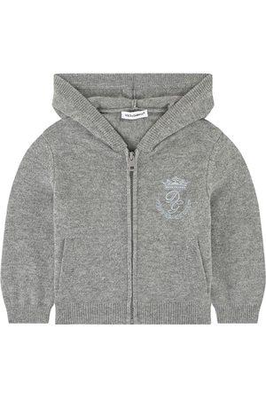 Dolce & Gabbana Kids Sale - Cashmere hoodie - Boy - 6-9 Months - Grey - Cardigans