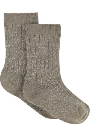Collegien Pair of rib knit socks with lurex Victoire