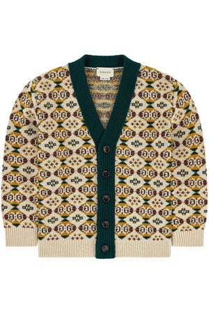Gucci V-necked wool cardigan