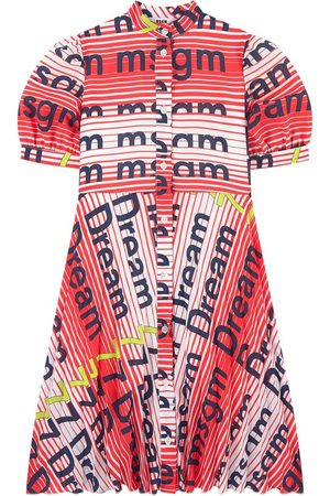 Msgm Kids Sale - Flowing printed dress - Girl - 14 years - - Party dresses