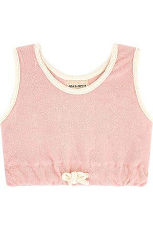 Zulu & Zephyr Girls Tank Tops - Kids Sale - Terry cloth crop tank top - Unisex - 36 Months - - Tanks and vests