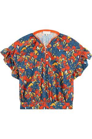 BLEU COMME GRIS Girls Blouses - Sale - Print satin blouse - Unisex - 4 Years - - Blouses