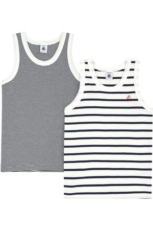 Petit Bateau Lot of 2 Breton-stripe vest tops