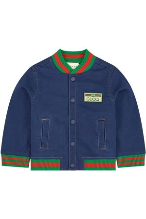 Gucci Jean bomber jacket - Bande Web