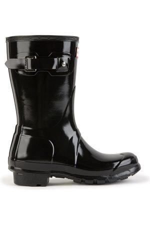Hunter Short shiny Wellington boots - Original Short Gloss Black
