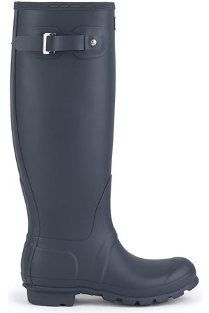 Hunter High matt Wellington boots - Original Tall Navy
